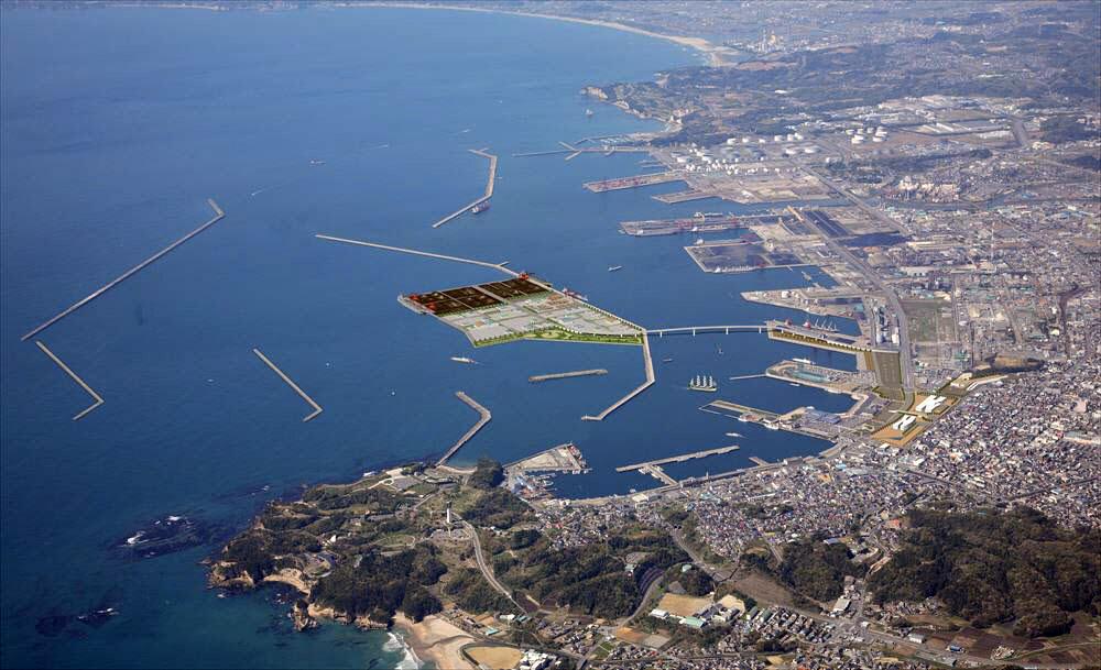 Onahama Port in Fukushima province, Japan