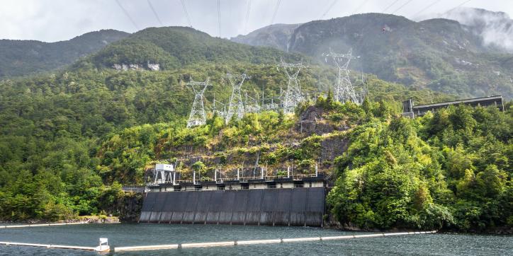 Meridian's Manapōuri power station.