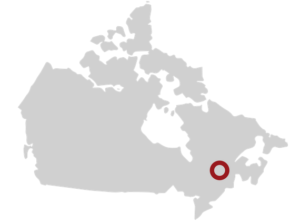 Hy2Gen Canada's hydro-ammonia project.