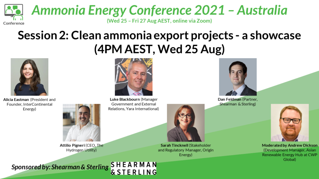 Panel Session 2 at our upcoming inline Australia conference: a showcase of clean ammonia export projects, featuring Origin Energy's Sarah Tincknell.