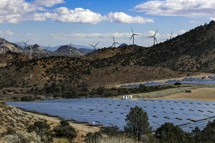 LADWP's Pine Tree Wind and Solar Farm.